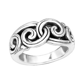 Wave - 925 Sterling Silver Silver Heavy - W39098X