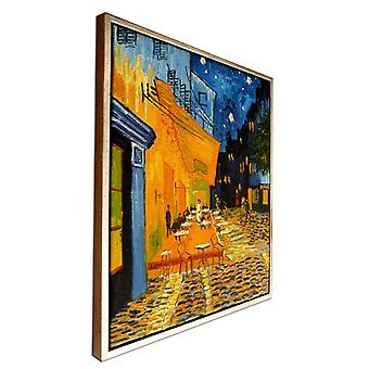 Efter Vincent van gogh, oljemålning med silver ram