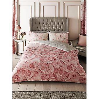 Bellerose Floral Single Duvet Cover Set - Rosa