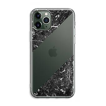 iPhone 11 Pro Max Transparent Case (Soft) - Black marble