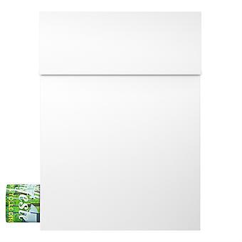 MOCAVI Box 500 design Letterbox branco com compartimento de jornal (RAL 9003)