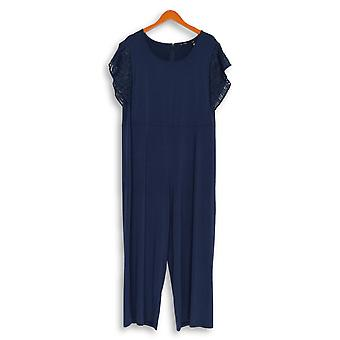 H بواسطة هالستون Petite Jumpsuits Jet Set Jersey Wide Leg Blue A354287