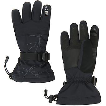 Spyder OVERWEB Gore-Tex jongens ski handschoenen zwart