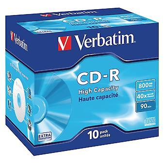 43428 Verbatim 800MB DataLife CD-R - gioiello incamiciato con 10 Pack