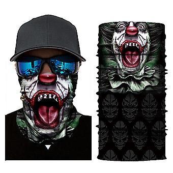 Masca de schi eșarfă mască Halloween-clovn