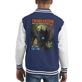 Hammer Horror Films Frankenstein Dangling Eye Ball Kid's Varsity Jacket