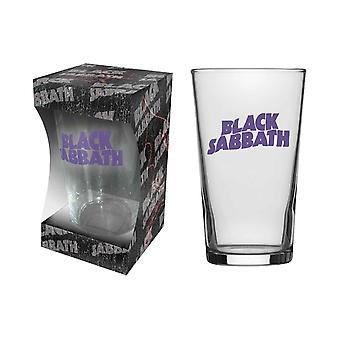 Black Sabbath Pint Glass Classic Purple Band Logo new Official Boxed