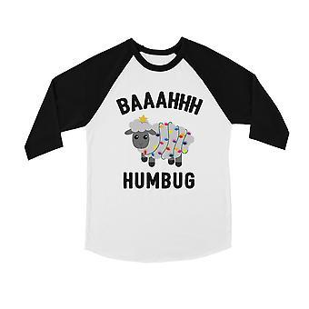 Baaahhh Humbug Cute BKWT Kids Baseball Shirt X-mas Present