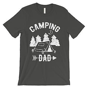 Camping pappa menns kul grå kul gjennomtenkt dum skjorte gave til pappa