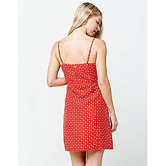 Volcom Junior's Women's Salt and Sun Printed Woven Dress, red Medium