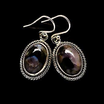"Gabbro Brincos 1 1/4"" (925 Sterling Silver) - Handmade Boho Vintage Jewelry EARR393852"
