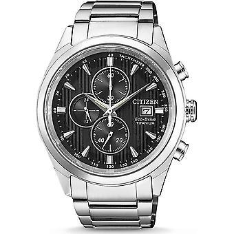 Citizen's eco-drive mens watch Super titanium chronograph CA0650-82F