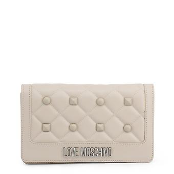 Amor moschino mujeres's bolsa de embrague - jc4060pp18lh, blanco