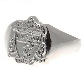 Liverpool FC Silver Plated Small Crest Ring