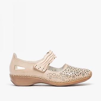 Rieker 413g7-60 Ladies touch fest sko vanilje