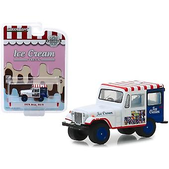 1975 Jeep DJ-5 Ice Cream Truck Hobby Exclusive 1/64 Diecast Model Car par Greenlight