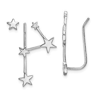 8.9mm 925 Sterling Silver Rhodium plate Constellation 1 Ear Climber and 1 Post Earrings Jewelry Gifts for Women