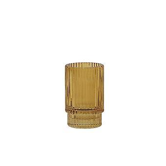 Light & Living Tealight 6x10cm - Philon Glass Ocher
