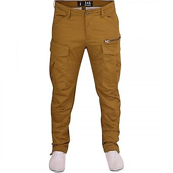 Spindle Mens Spindle Tapered Cargo Multi Pocket Twisted Leg Chino Trousers Jeans- 8 Pockets