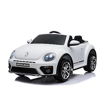 Licensed VW Volkswagen Beetle Dune 12V Kids Electric Ride On Car White
