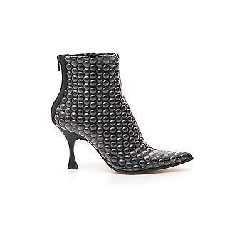 Mm6 Maison Margiela S59wu0109p3167t8013 Dames's Black Leather Enkellaarzen