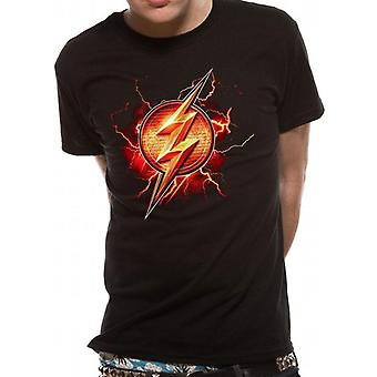 Justice League Unisex Adults Flash Symbol Design T-Shirt