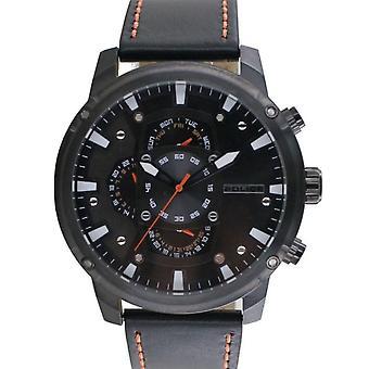 Police Herren Uhr Armbanduhr Leder Analog Power Play PL14831JSU.02