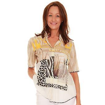 JUST WHITE Just White Animal Print Shirt 42539