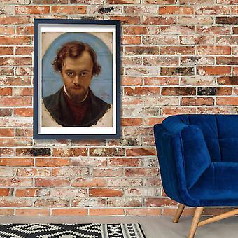 William Holman - Portrait of Dante Gabriel Rossetti Poster Print Giclee