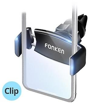 フォンケンエアベント重力リンケージ自動ロックカー電話ホルダー4.7インチ - 6.0インチスマートフォン