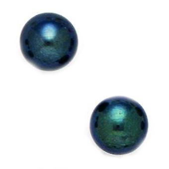 14k Geel Goud Zwart 8.5mm Ronde Zoetwater Gekweekte Parel oorbellen sieraden cadeaus voor vrouwen