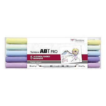 Tombow ABT PRO Alcohol - Double Brosse 5 pcs. ensemble Pastel 19-ABTP-5P-2