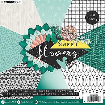 Studio Light Paper Pad Sweet Flowers nr.138 PPSFL138 15x15 cm