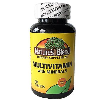 Nature's blend multi-vitamin with mineral, tablets, 250 ea