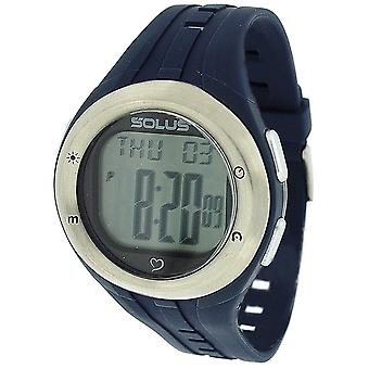 Solus Mens Digital LCD Dial Date Backlight Blue PU Casual Watch SL-900-003