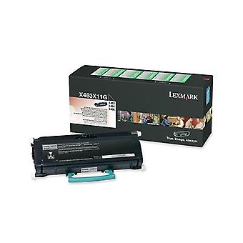 Lexmark X463X11G Black Prebate Toner Yield 15000 Pages