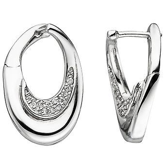 Hoop earrings 925 sterling silver 26 cubic zirconia earrings kitchen Silver earrings