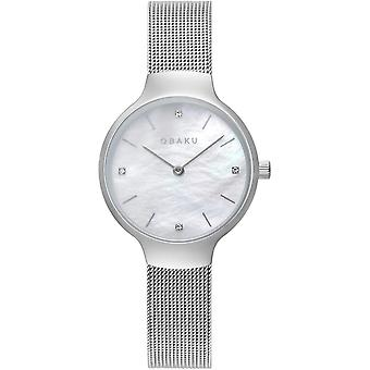 Obaku Vikke Steel Women's Silver Tone Wristwatch V241LXCWMC