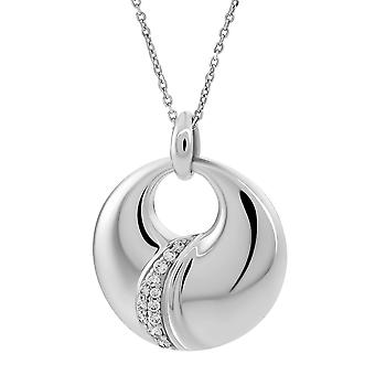 ORPHELIA CHAIN WITH PENDANT LARGE WAVE 925 SILVER WITH ZIRCONIUM