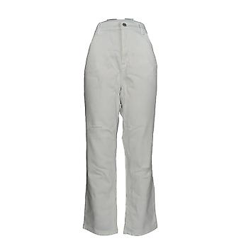 Denim & Co. Damen's Plus Jeans Classic Denim Weiß A304475