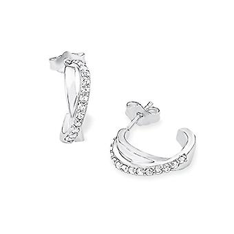 Amor Women's Earrings in silver circle 925 rodent with white zircons ? 526852