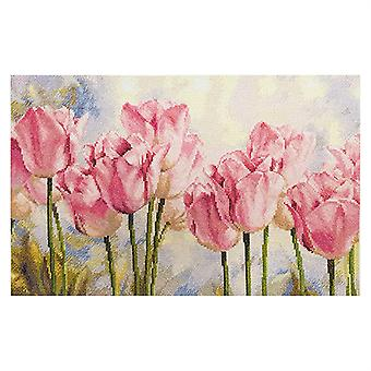 Kit Alisa Cross Stitch - Tulipas Rosas