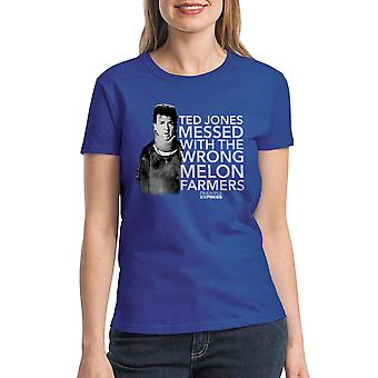 Pineapple Express Melon Farmers Red Quote Women's Royal Blue T-shirt