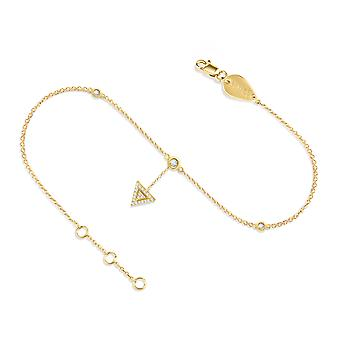 Anklet Triangle Hanging 18K Gold and Diamonds - Yellow Gold