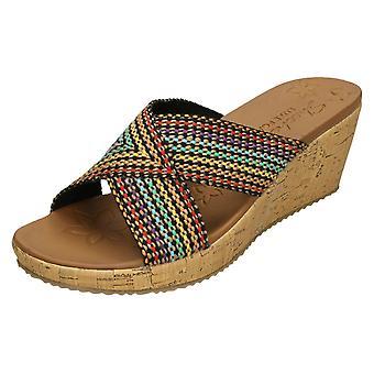 Ladies Skechers Wedge Sandals With Luxe Foam Delighted