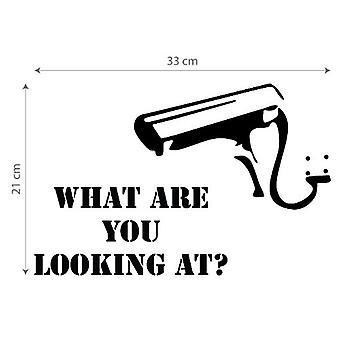 GNG Banksy What Are You Looking At ? Wall Sticker decal stickers