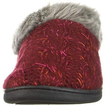 Dearfoams Women's Shoes Space-dye Cable Knit Closed Toe Slip On Slippers