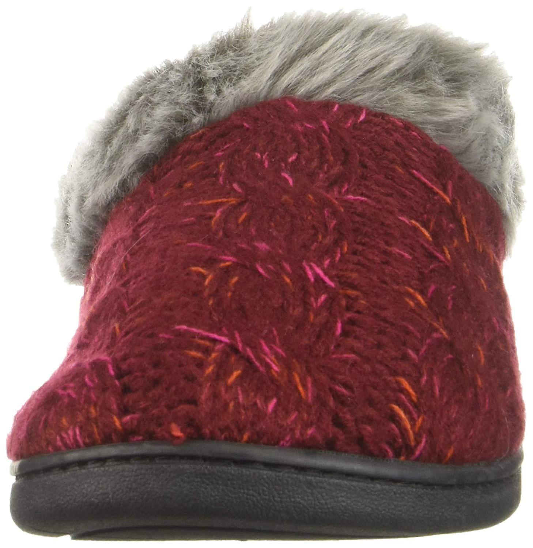Dearfoams Women's Shoes Space-dye Cable Knit Closed Toe Slip On Slippers 7XpIq
