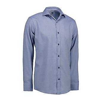 ID Mens Dobby Alonso Shirt lange mouw Slim Fit