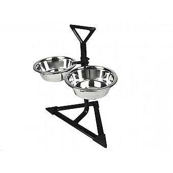 Classic Triangular Double Diner Dog Bowl (3 Pieces)